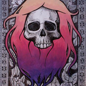Dominika Nowakowska-Hippie Skull-Mieszana