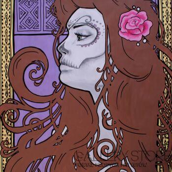 Dominika Nowakowska-Sugar skull Lady-Mieszana