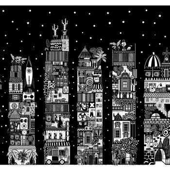Dominika Wilk-Blokowisko nocą-Grafika