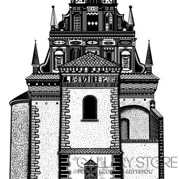 Dominika Wilk-Kościół Farny w Kazimierzu Dolnym-Grafika