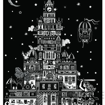 Dominika Wilk-Pałac Kultury i Nauki w Warszawie-Serigrafia