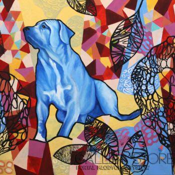 Dorota Zbroszko-Niebieski pies-Akryl