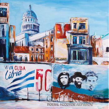 Edward Karczmarski-Hawana Cuba -Akryl