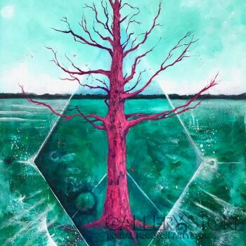 Ewa Grzegorczyk-Różowe Drzewo na Saaremie-Akryl