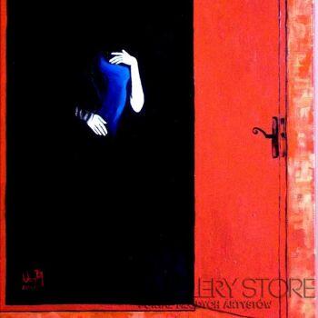 Helga Nagy-Red door-Olej