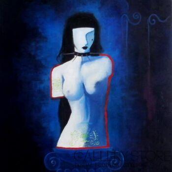 Helga Nagy-Venus with tattoo-Olej