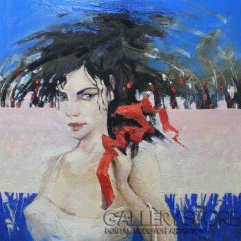 Henadzy Havartsou-Czerwona wstążka-Olej