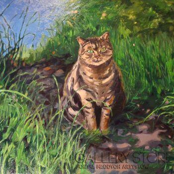 Iwona Orzechowska-Wiater-Fioletowa kotka-Olej