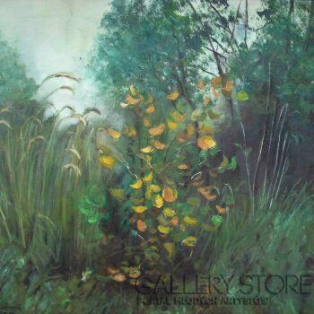 Izabela Domaniecka-W lesie.-Olej