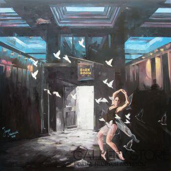 Janusz Orzechowski-Dark Room -Olej