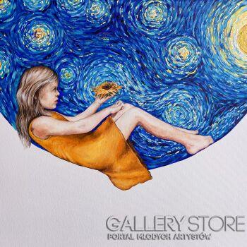 Joanna Czajkowska-Mój Van Gogh-Akryl