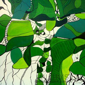 Joanna Frątczak-Podróż do Zielonego Miasta-Akryl