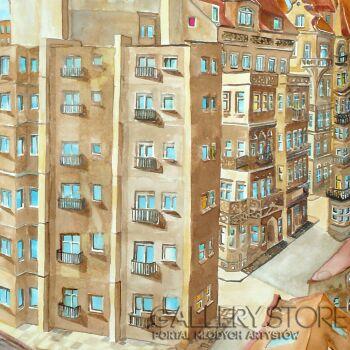 Joanna Rzeźnik-Ulica II-Akwarela
