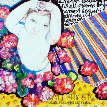 Kasia Gawron-Geranium-Rysunek