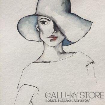 Katia Meller-W cieniu kapelisza-Akwarela