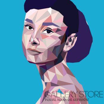 Lola  Rothschild -Blue Audrey-Akryl