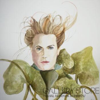 Kinga Bielec-W zieleni-Akwarela
