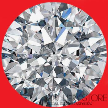 Koko  Rothschild -Diamond on red-Olej
