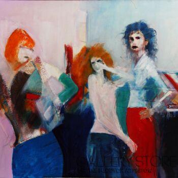 Krzysztof Gajewski-Girls, Girls, Girls-Olej
