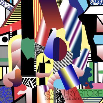 Lola  Rothschild -Kompozycja abstrakcyjna 1 -Olej