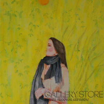 Magdalena  Sarnat-W żółtym ogrodzie-Akryl