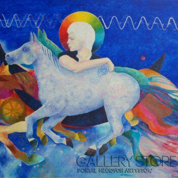 Magdalena Walulik-Jeździec Apokalipsy -Olej