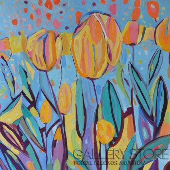 Magdalena Walulik-Kwiaty Tulipany IV-Akryl