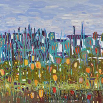 Magdalena Walulik-Pejzaż abstrakcyjny Nad jeziorem-Akryl