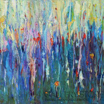 Magdalena Walulik-Pejzaż abstrakt - Leśne trawy-Olej