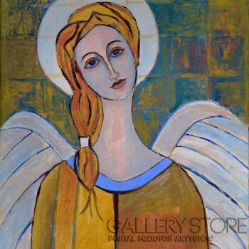 Magdalena Walulik-Złoty anioł-Akryl