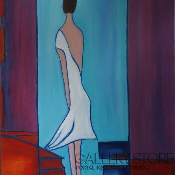 Małgorzata Burcicka-Kozieł-Dziewczyna w białej sukience-Olej