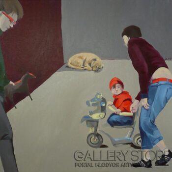 Małgorzata Łodygowska-''Rodzina''-Malarstwo