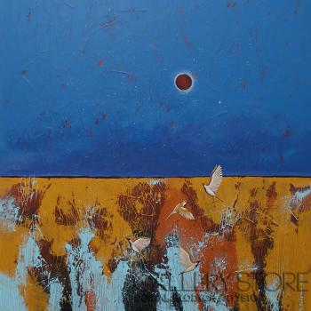 Małgorzata Rukszan-Pełnia czerwonego księżyca-Akryl