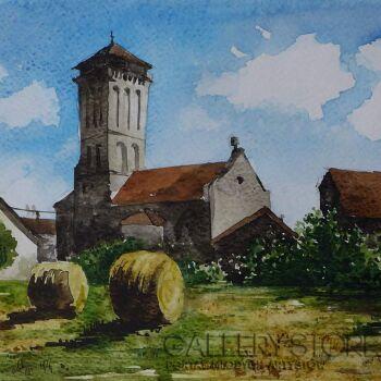 Marcin Zofiński-Sianokosy-Akwarela