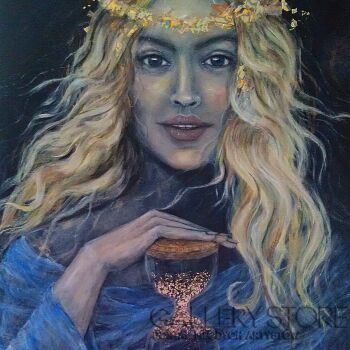 Marija Holubieva-Strażnica czasu-Akryl