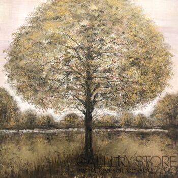 Mariola Świgulska-Golden tree-Akryl