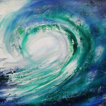 Mariola Świgulska-Wzburzone fale dotykają nieba-Akryl