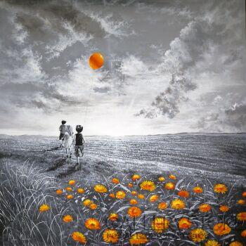 Martyna Mączka-W stronę słońca-Akryl