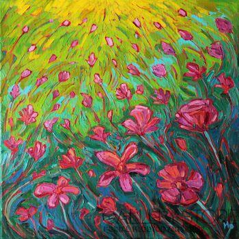 Monika Siwiec-Dzikie kwiaty -Olej