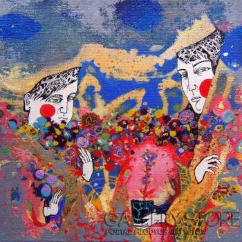 Natalia Pastuszenko-Kwiaty-Akryl