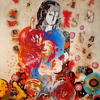 Natalia Pastuszenko-Z różami-Akwarela