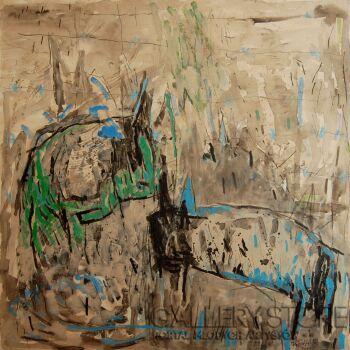 Orwa Abu Turabe-Pies-Akryl