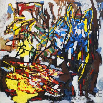 """Orwa Abu Turabe-z cyklu """"Pies"""" -Akryl"""