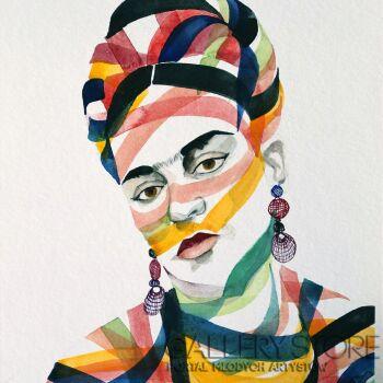 Paweł Dąbrowski-Frida jej portret. -Akwarela
