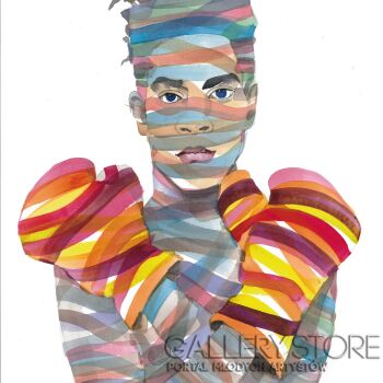 Paweł Dabrowski-Jean-Michel Basquiat-Akwarela