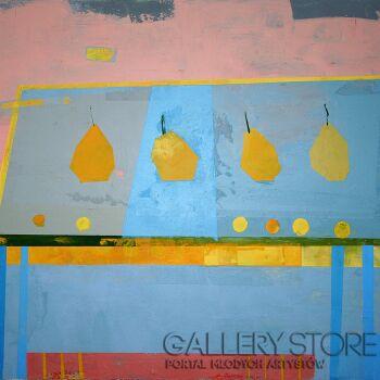 Pracownia Aquarelle Klaudia Pawelec-Gliklich-Gruszki na stole -Akryl