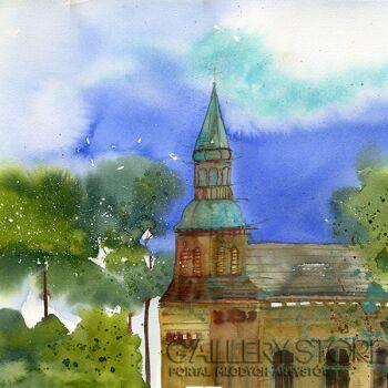 Klaudia Pawelec-Gliklich-Kościół -Akwarela