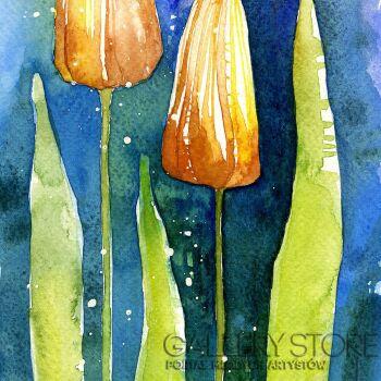 Pracownia Aquarelle Klaudia Pawelec-Gliklich-Kwiaty I -Akwarela