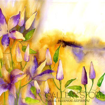 Pracownia Aquarelle Klaudia Pawelec-Gliklich-Kwiaty II -Akwarela