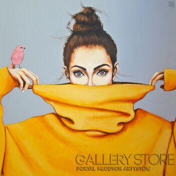 Renata Magda-pink bird VI-Akryl